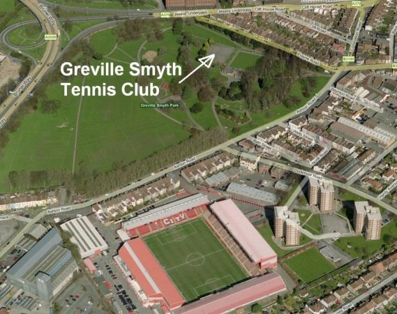 Map of Greville Smyth tennis courts